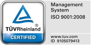 Sello del certificado ISO 9001:2008